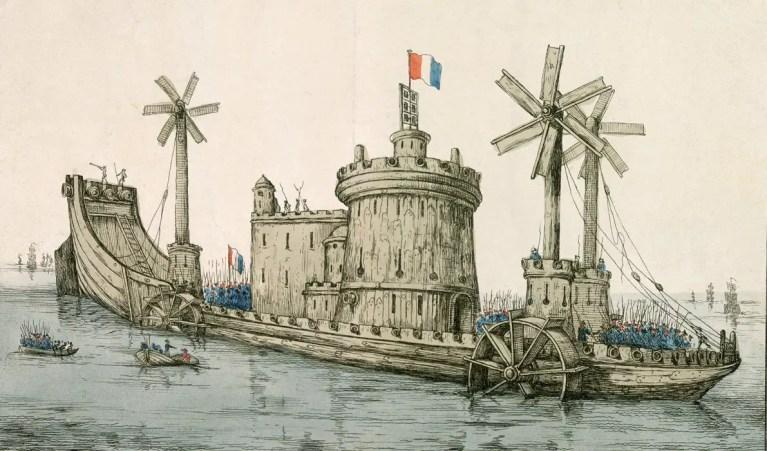 Los «castillos flotantes franceses» y el plan para invadir el Reino Unido