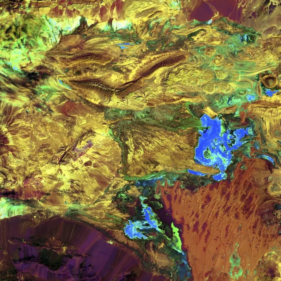 Fotografía aérea de Dasht-e Kavir.