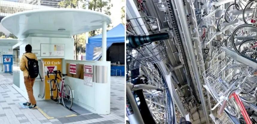 Deposito subterraneo de bicicletas.