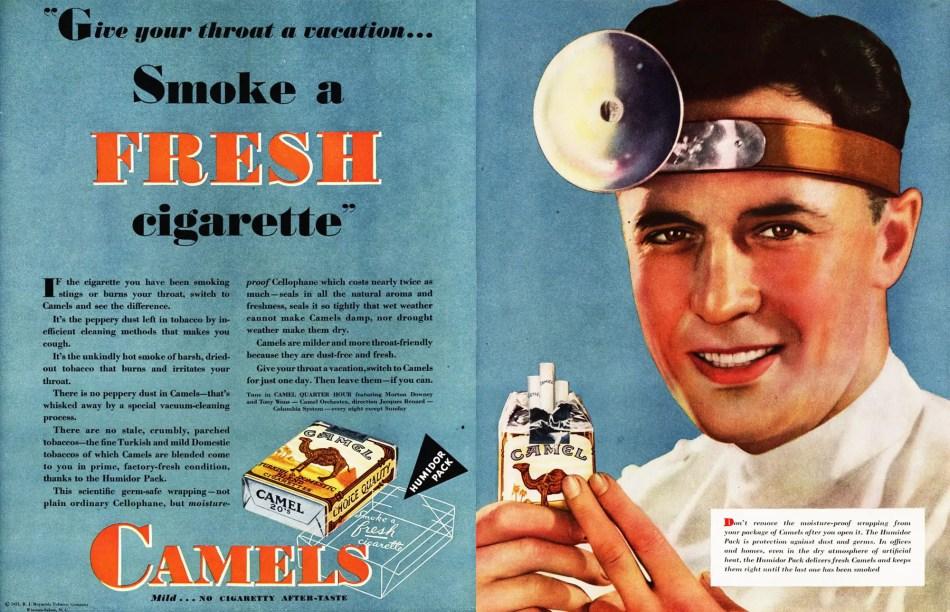 Publicidad antigua de cigarros.