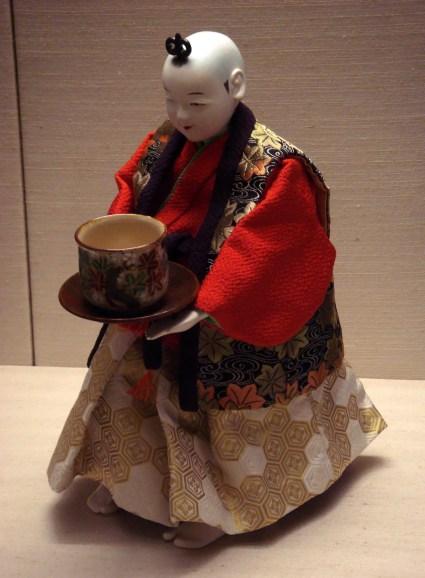 Fotografía de uno de los autómatas sirvientes de Japón.