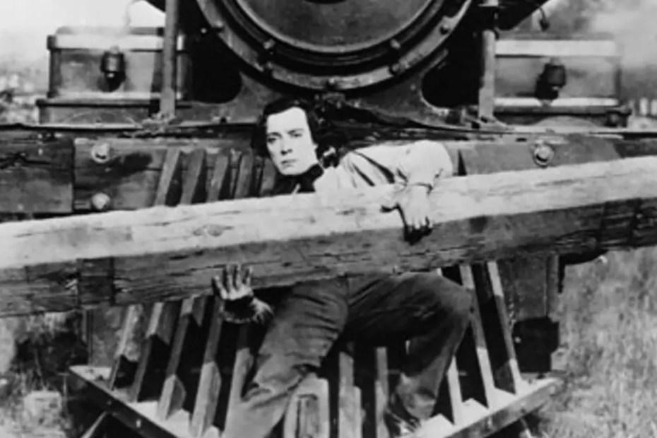 Captura de la película La general de Buster Keaton.