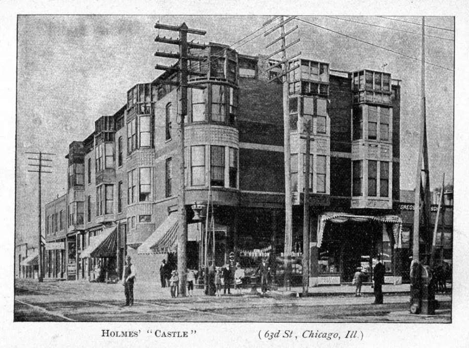 Fotografía del exterior de la mansión de H.H. Homes.