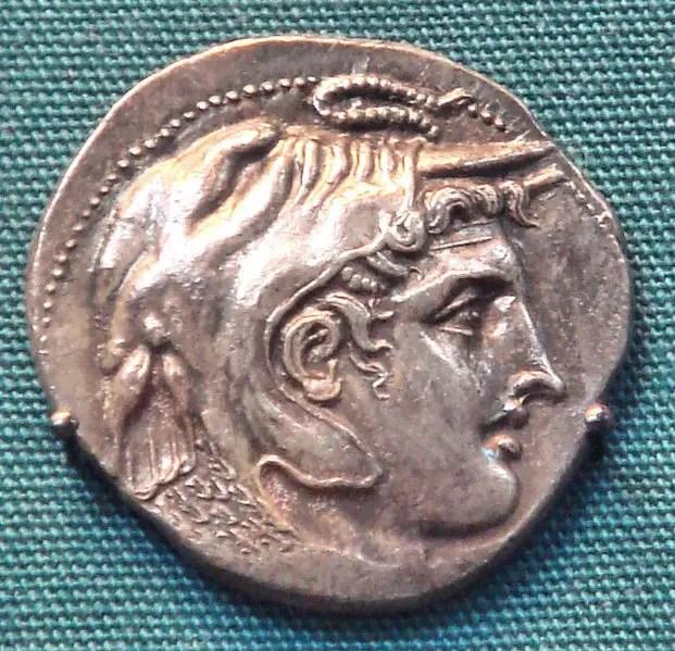Fotografía de una moneda de Ptolomeo I Sóter.