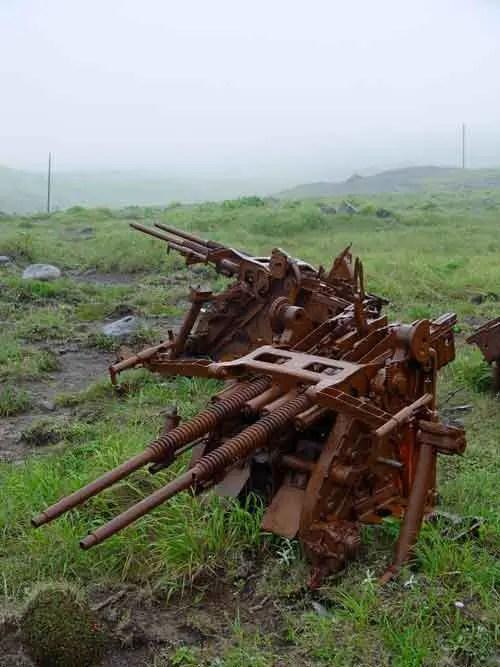 Restos de artillería anti-aérea.