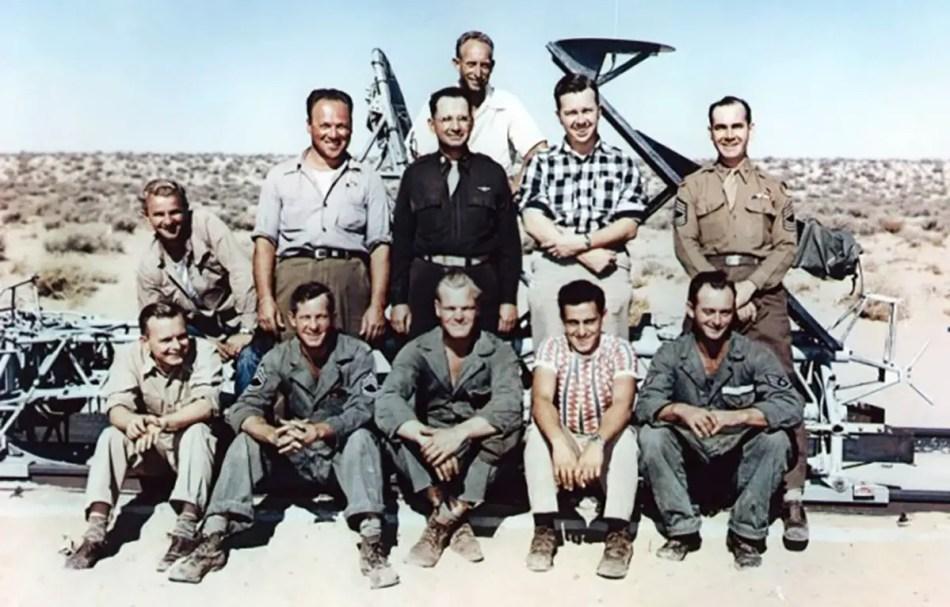 Fotografía del equipo técnico de John Stapp.