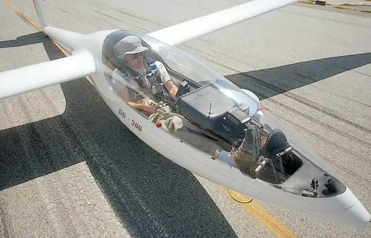 Cabina de un planeador.