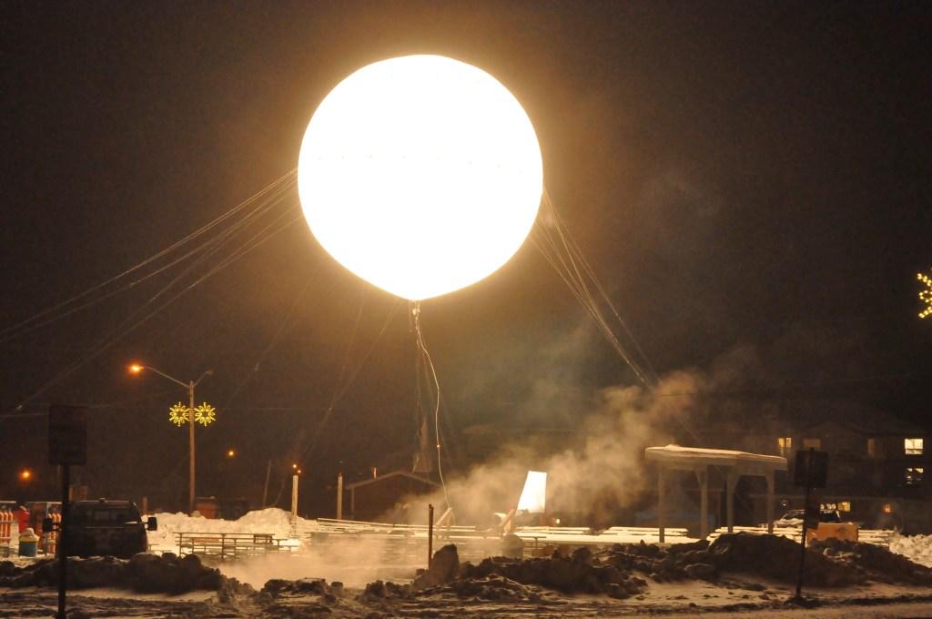 Detalle del sol de Inuvik.