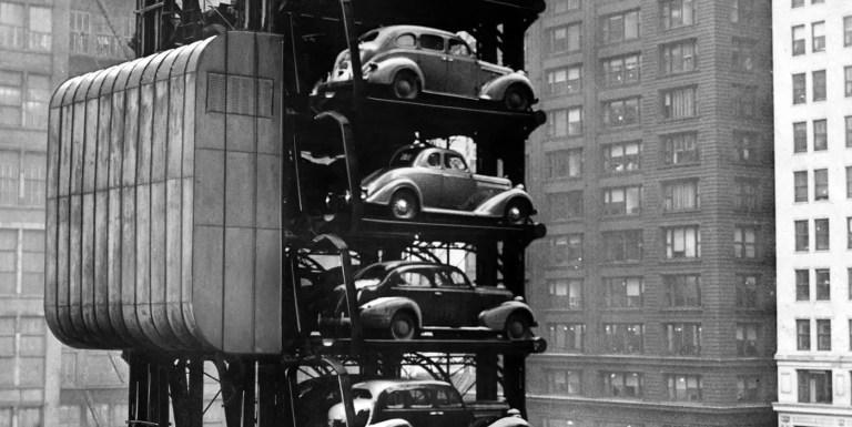 Los visionarios aparcamientos verticales de Chicago de la década de 1930