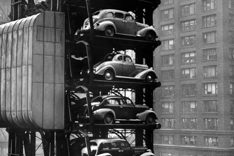 Aparcamiento vertical de Chicago.