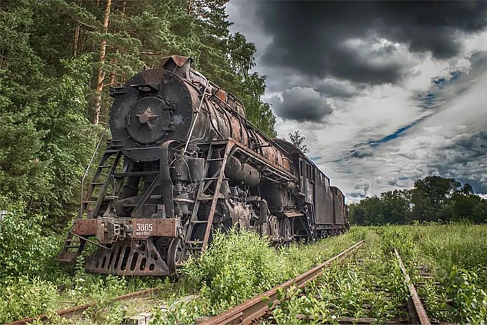 Cementerio de trenes en Shumkovo