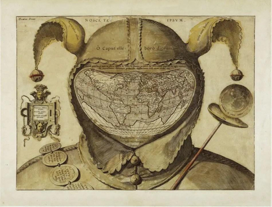 Imagen de un mapamundi temático.
