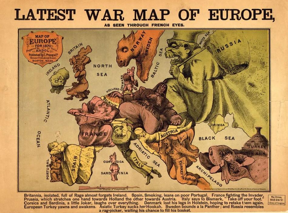 Mapa tematico de la primera guerra.