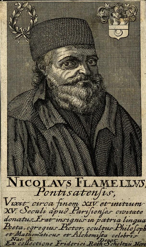 Grabado de Nicolas Flamel.