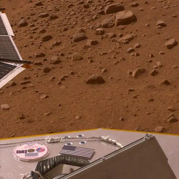 Fotografía de la superficie marciana.