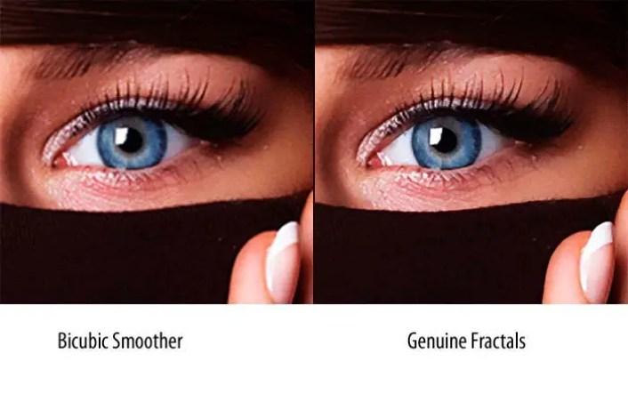 Ejemplo de una imagen agrandada utilizando Photoshop y Genuine Fractals.