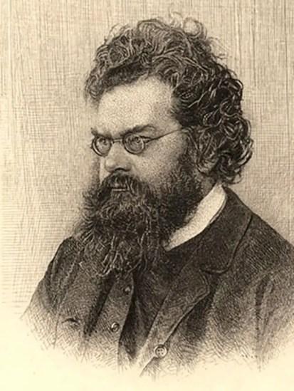 Ilustración del retrato del físico Ludwig Eduard Boltzmann.