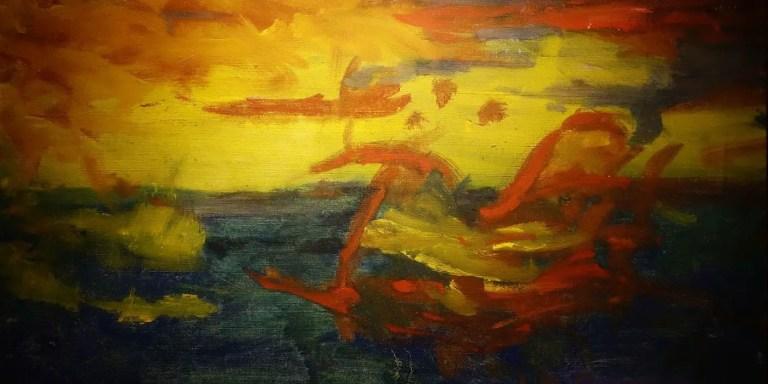 """Una de las tantas """"pinturas expresionistas"""" con la cual Dorgelés logró engañar a la élite intelectual de París."""