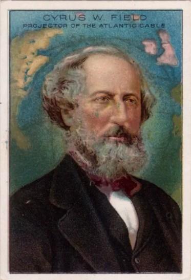 Ilustración con el retrato de Cyrus W. Field.