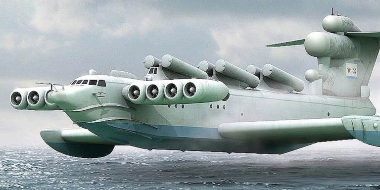 El Ekranoplan, el avión soviético que volaba sobre la superficie del mar
