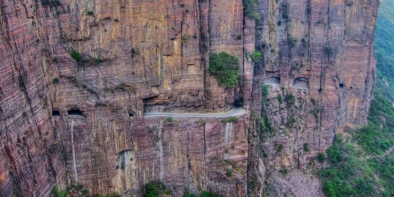 Atravesando el túnel de Guoliang en primera persona