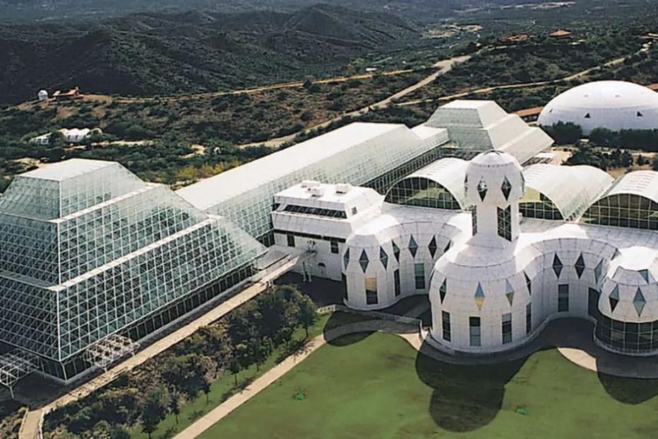 Exterior del complejo Biosphere 2.