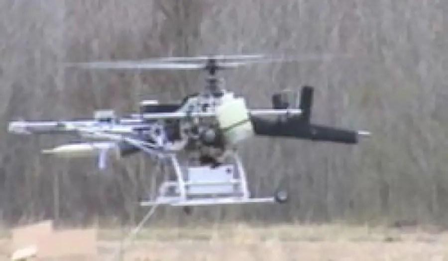 AutoCopter Guship en pleno vuelo.