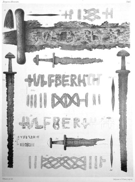 Varias espadas Ulfberht.