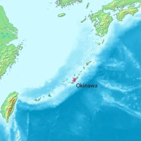 Isla de Okinawa en el sur de Japón.