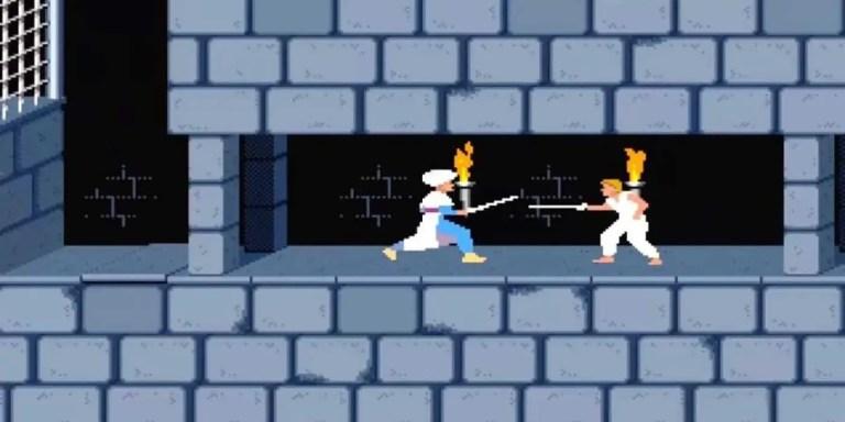 Captura de pantalla del vídeo juego Príncipe de Persia.