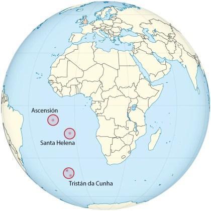 Mapa de las islas pobladas más remotas del mundo.