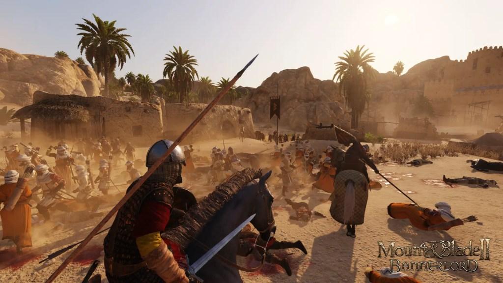 Combate en el desierto.
