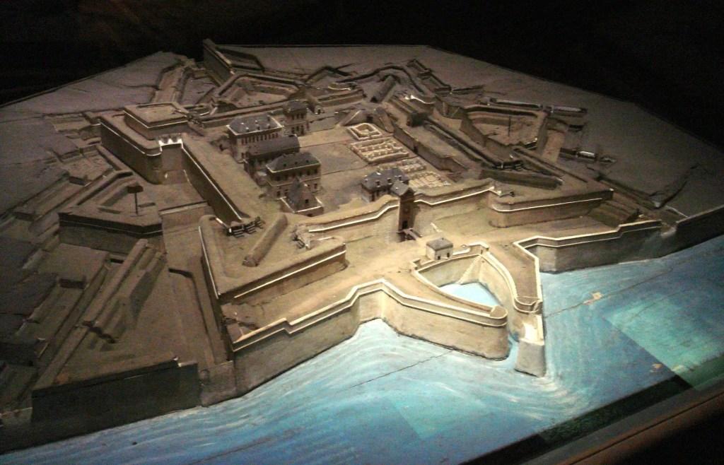 Modelo de la Ciudadela Saint-Martin.
