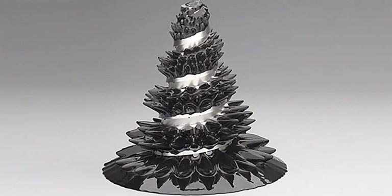 Esculturas con ferrofluidos, los líquidos atraídos por campos magnéticos