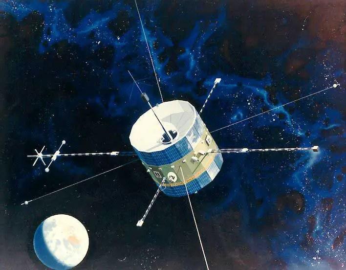 Ilustración del satélite ISEE-3/ICE.