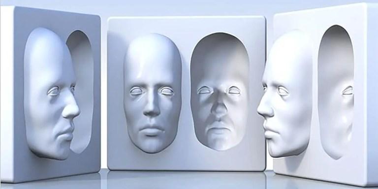 La máscara hueca, la ilusión que no puede ser vista por esquizofrénicos