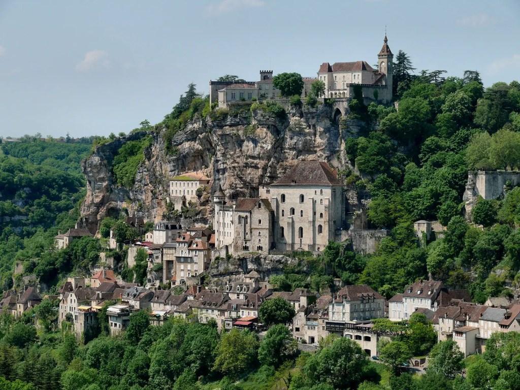 Panorama del pueblo medieval de Rocamadour.