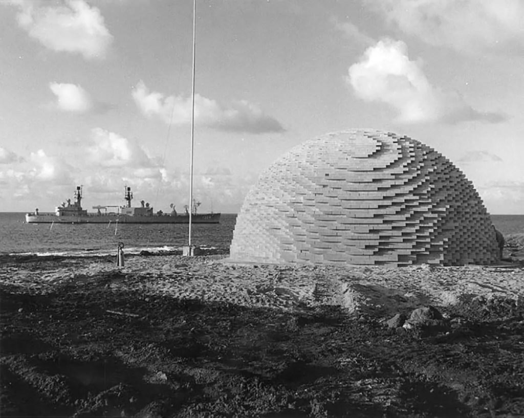 Bomba de 500 toneladas utilizada en la operación Sailor Hat.