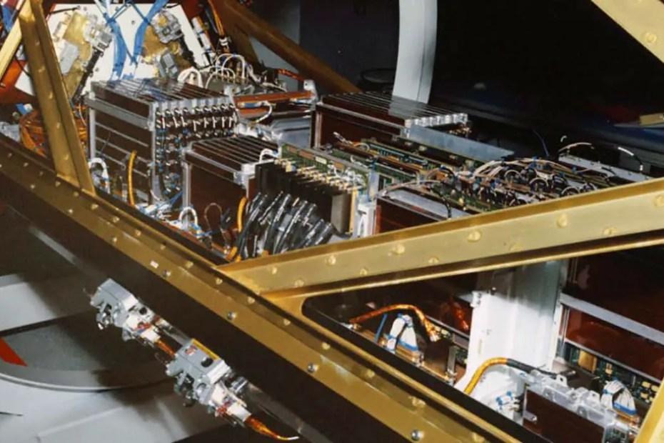 Interior de un satélite Iridium.