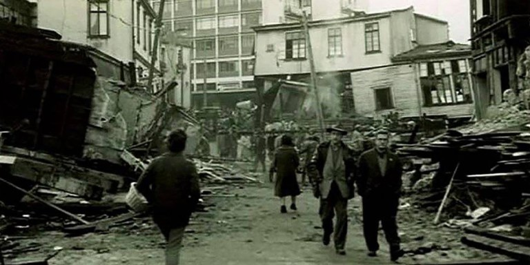 La destrucción del terremoto de Valdivia, el terremoto más fuerte de la Historia.