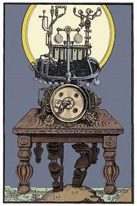 Ilustración del mesías eléctrico construido por John Murray Spear.