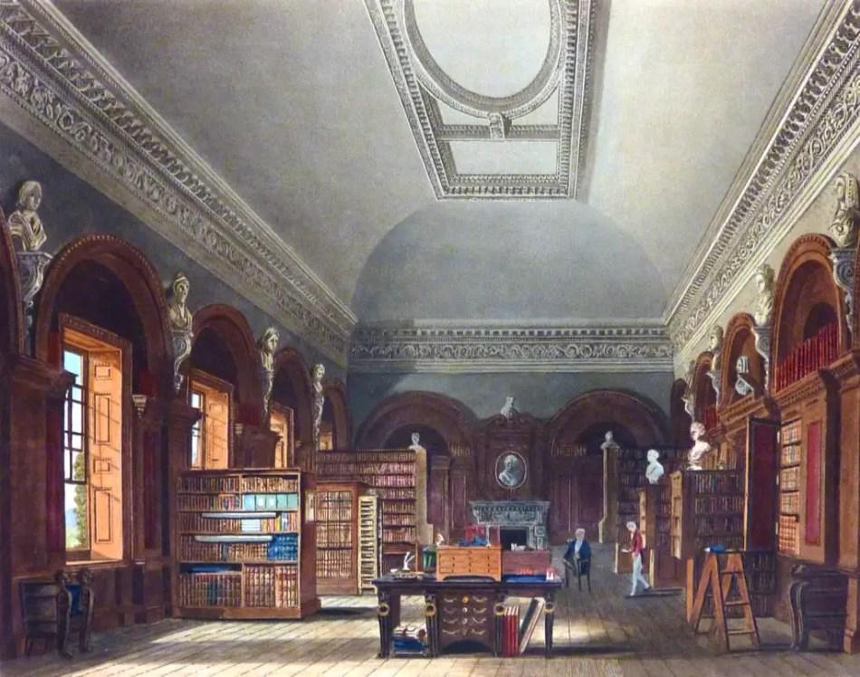 La bilbioteca de la Reina, arquitectura ilustrada