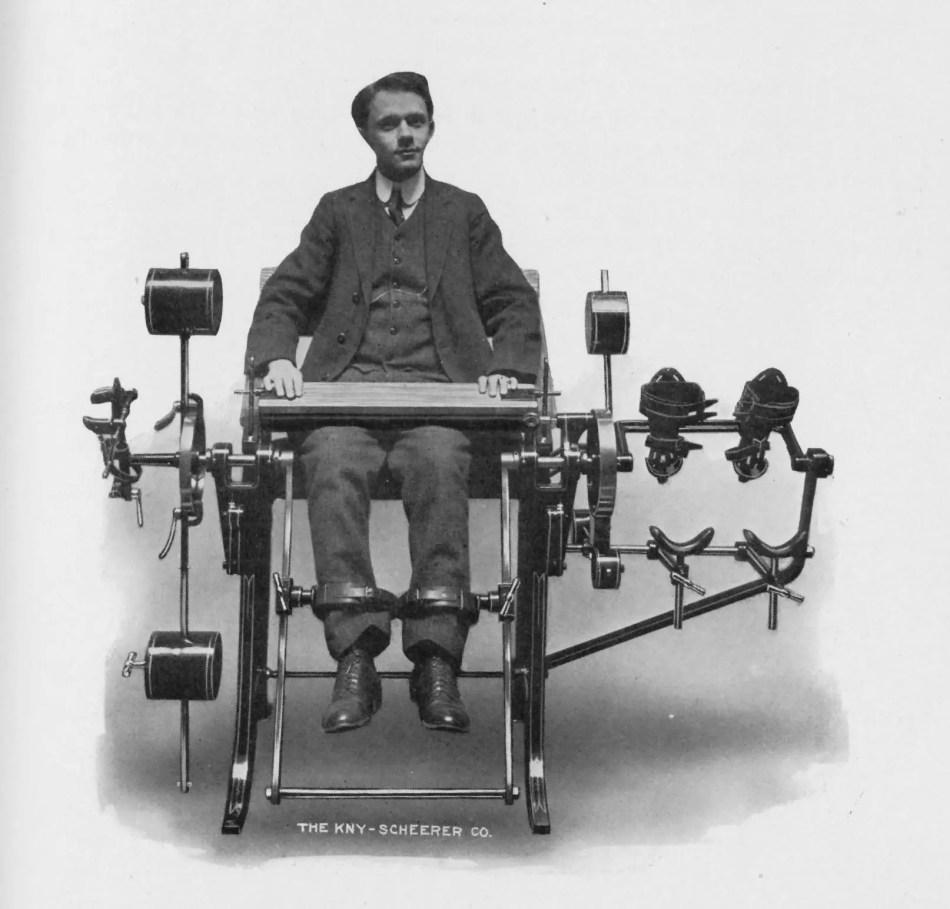 Las máquinas de gimnasio del Dr. Zander hacían un especial hincapié en el ejercicio de las piernas y la espalda.