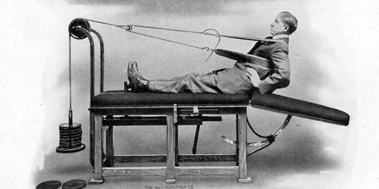Las primeras máquinas de gimnasio, las extrañas máquinas del Dr. Zander