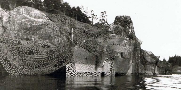 Cómo la armada sueca camufló sus barcos para que parezcan islas