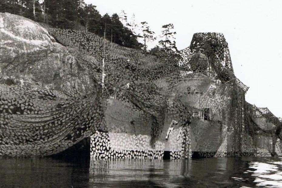 Camuflaje de barcos suecos durante la segunda guerra mundial.