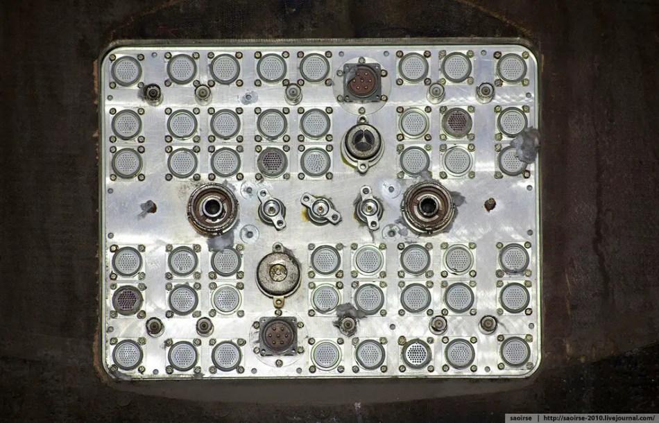 Panel de conexión para los distintos equipos de la nave y equipamiento de diagnóstico.