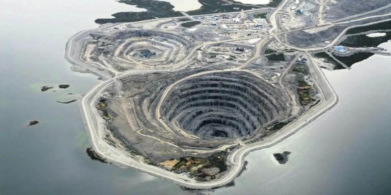 La mina de diamantes de Diavik, un paisaje de otro mundo