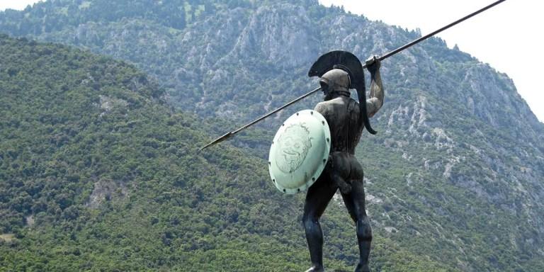 Estatua del rey Leonidas.