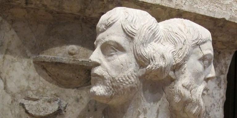 Jano, el dios romano de las dos caras.